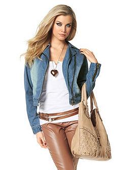 MELROSE Jeans-jack met stonewashed-effecten
