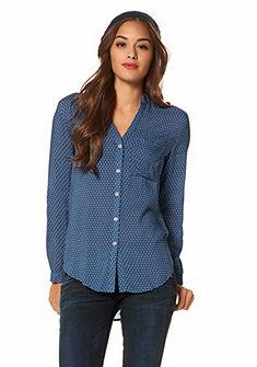 LTB Gedessineerde blouse Gijs met staand kraagje