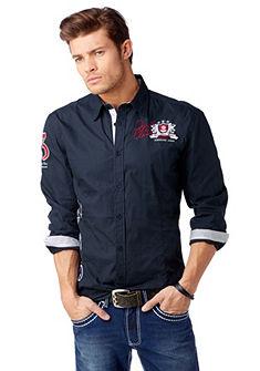 JOHN DEVIN Overhemd met exclusieve borduursels
