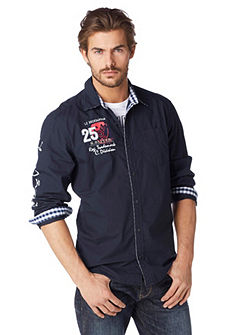 S.OLIVER Gestreept overhemd in Comfort Fit-stijl
