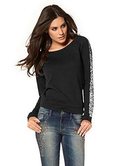 ARIZONA Sweatshirt met paillettengarnering