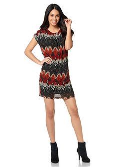CHILLYTIME Chiffon-jurk met jerseyvoering