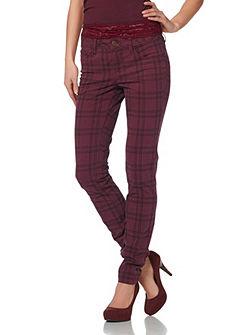 LAURA SCOTT Skinny-broek met ruitprint allover