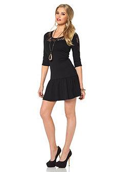 MELROSE Jersey-jurk met kanten inzet
