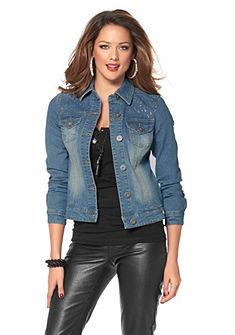 MELROSE Jeans-jack met fonkelende strassteentjes