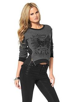 ARIZONA Sweatshirt met afgeronde zoom
