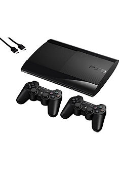 PlayStation 3 Superslim 500 GB zwart + controllers