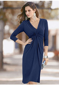 Jersey-jurk met aanrimpelingen