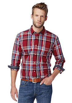 TOM TAILOR Geruit overhemd met kraagstaander