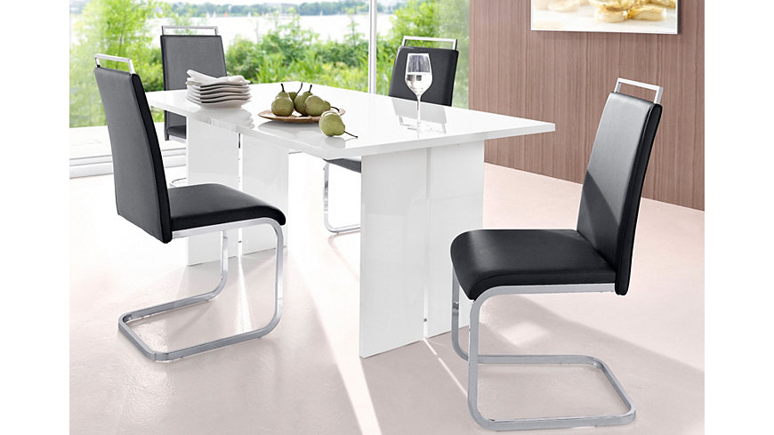 Eethoek bestaande uit 1 tafel en 4 stoelen online verkrijgbaar : OTTO