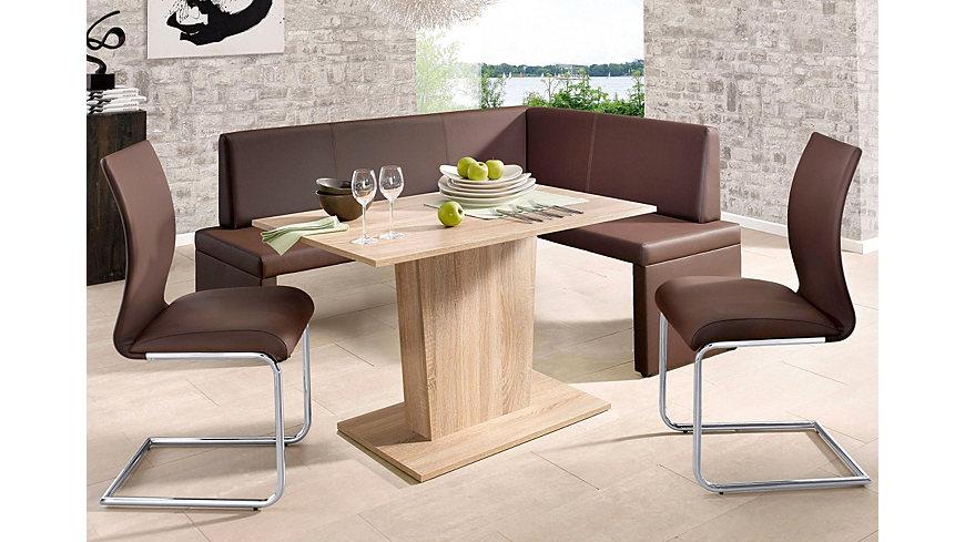 delige eethoek met hoekbank en 2 stoelen makkelijk gekocht : OTTO