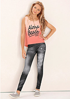 Jegging in seamless-stijl