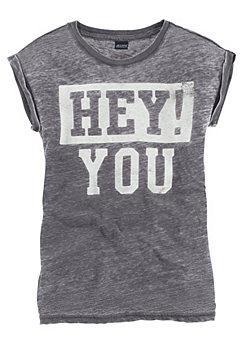 Oversized shirt met print voor meisjes