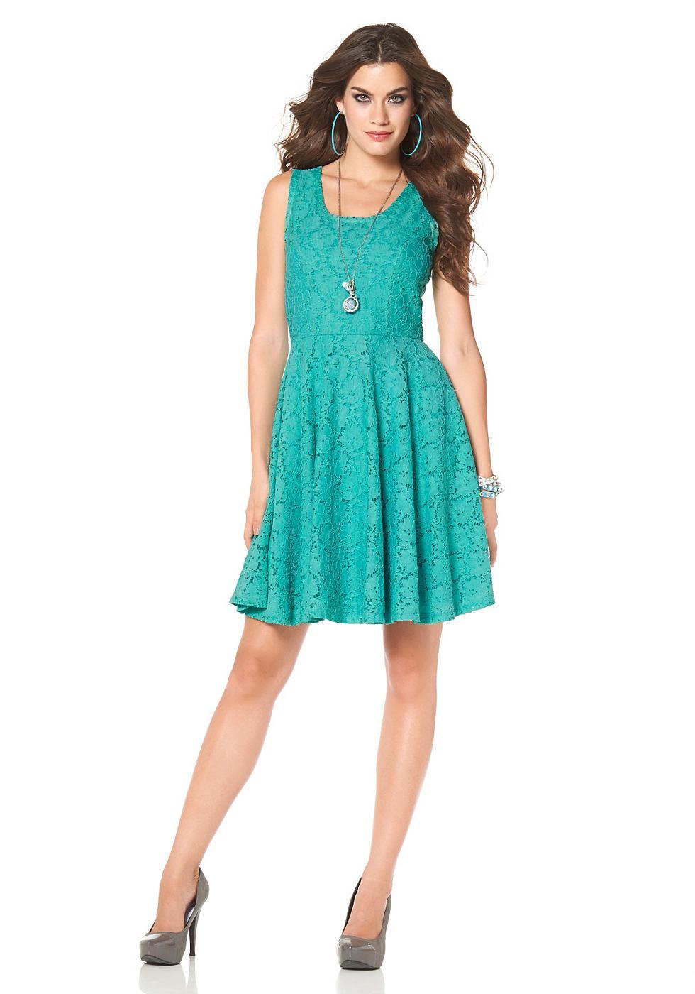 Laura Scott kanten jurk groen