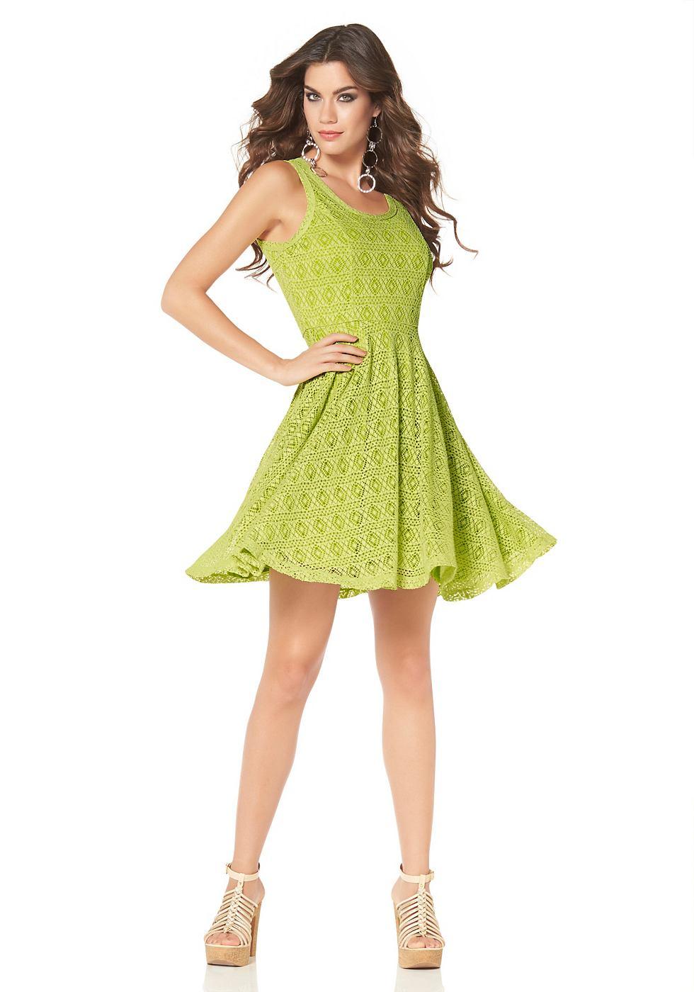 Laura Scott kanten jurk met ritssluiting achter groen