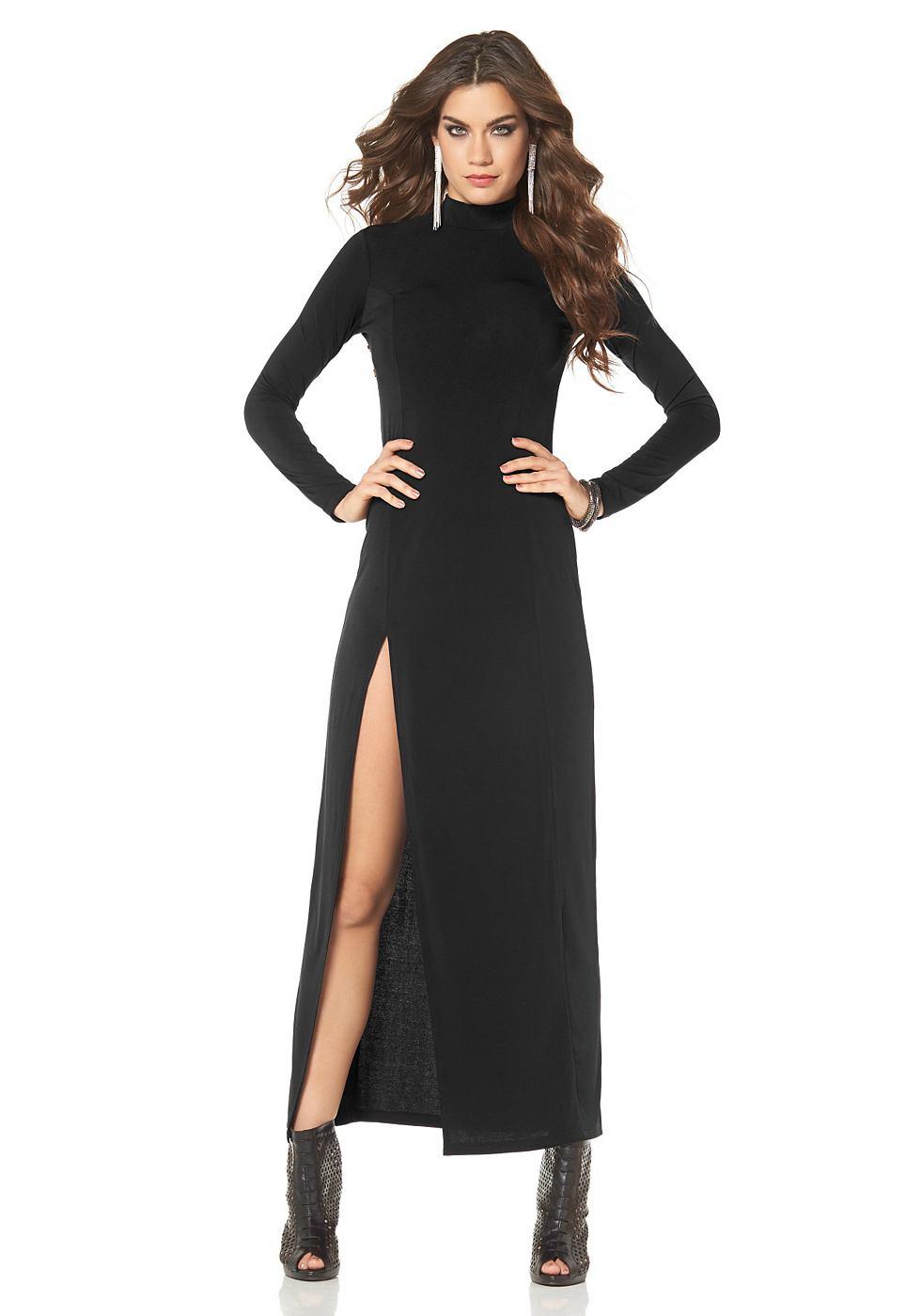 Laura Scott Avondjurk in elastische kwaliteit zwart