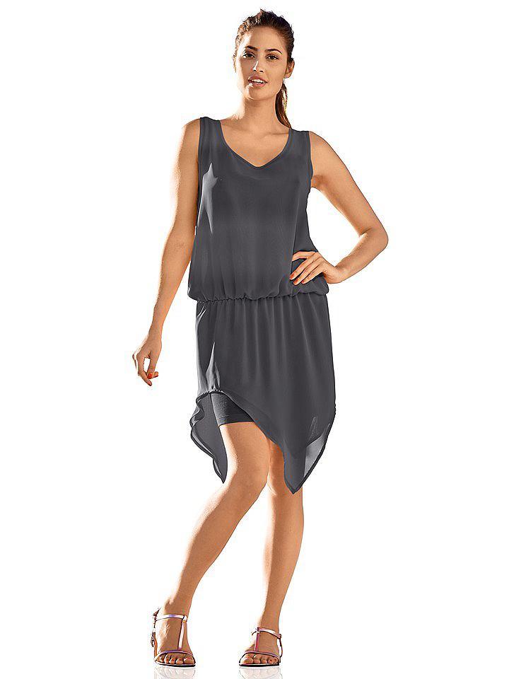 jurk in overgooiermodel zwart