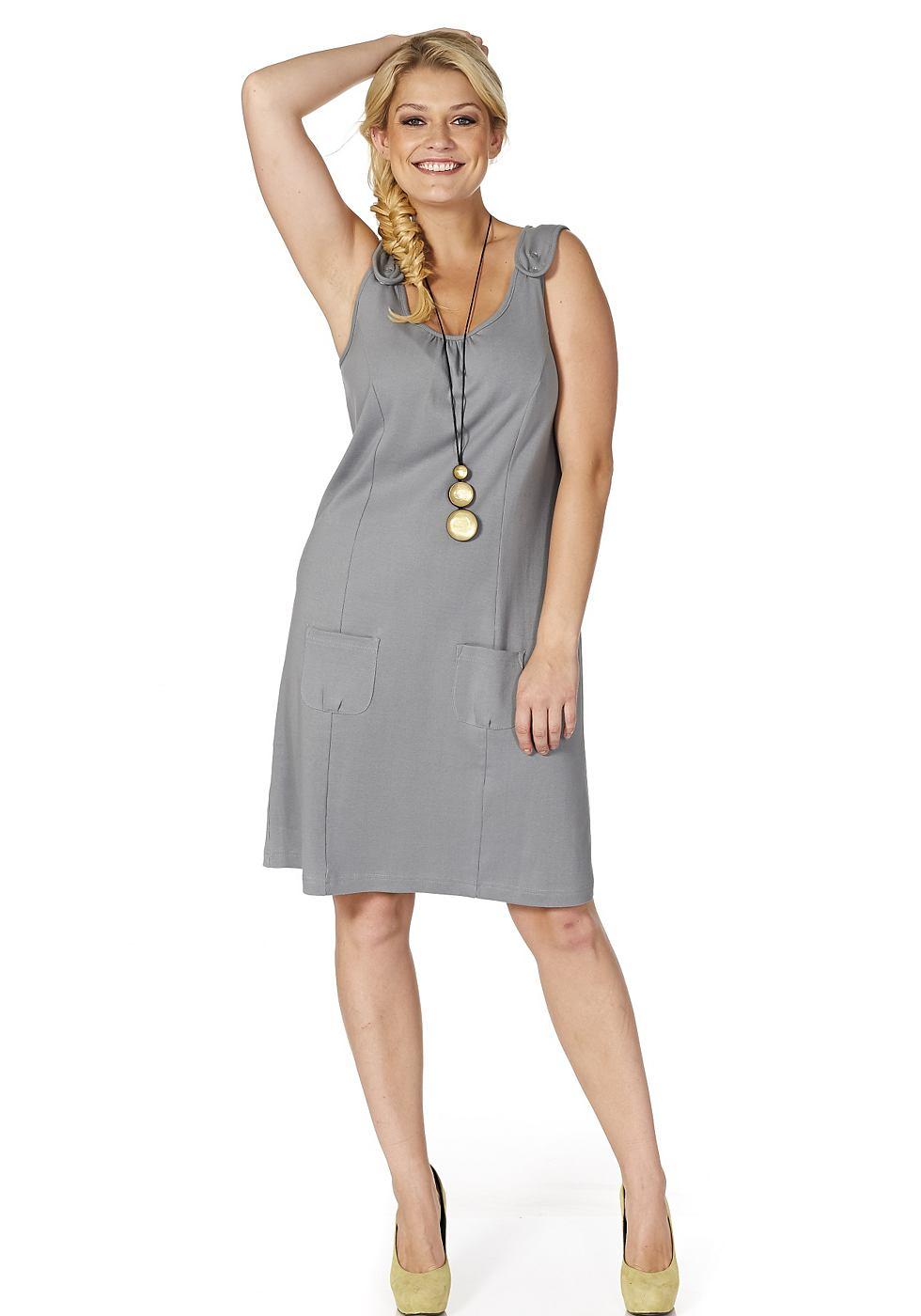 sheego jurk grijs