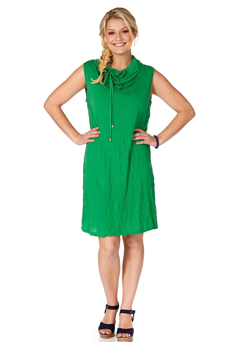 SHEEGO jurk in crash-look groen