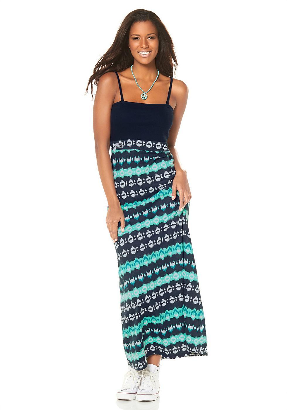 Kangaroos Maxi-jurk met allover-print blauw