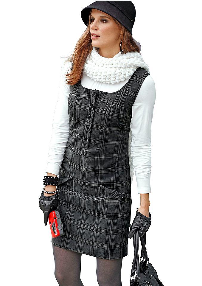 Aniston jurk in overgooiermodel grijs