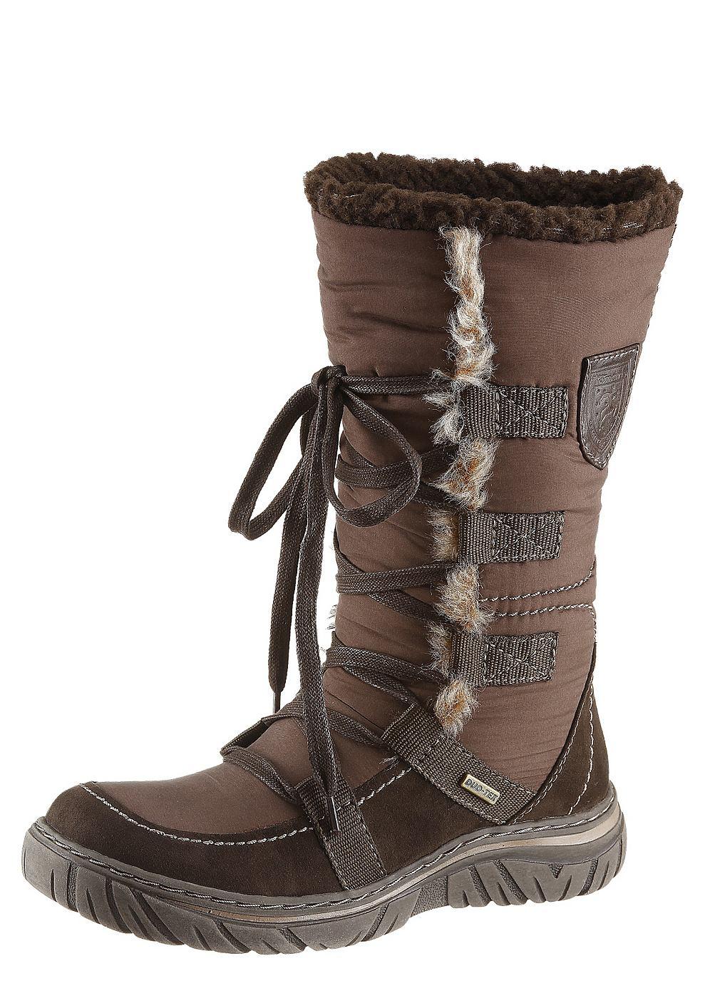 Damesschoenen tamaris laarzen met warme voering - Beige warme of koude kleur ...