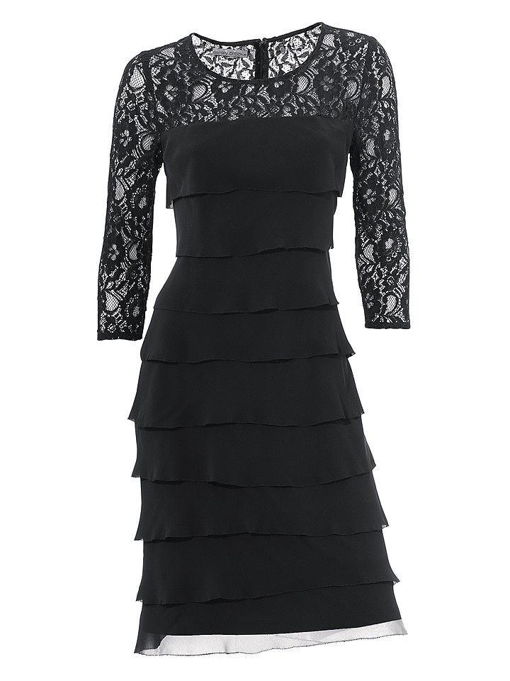 Ashley Brooke kanten jurk zwart