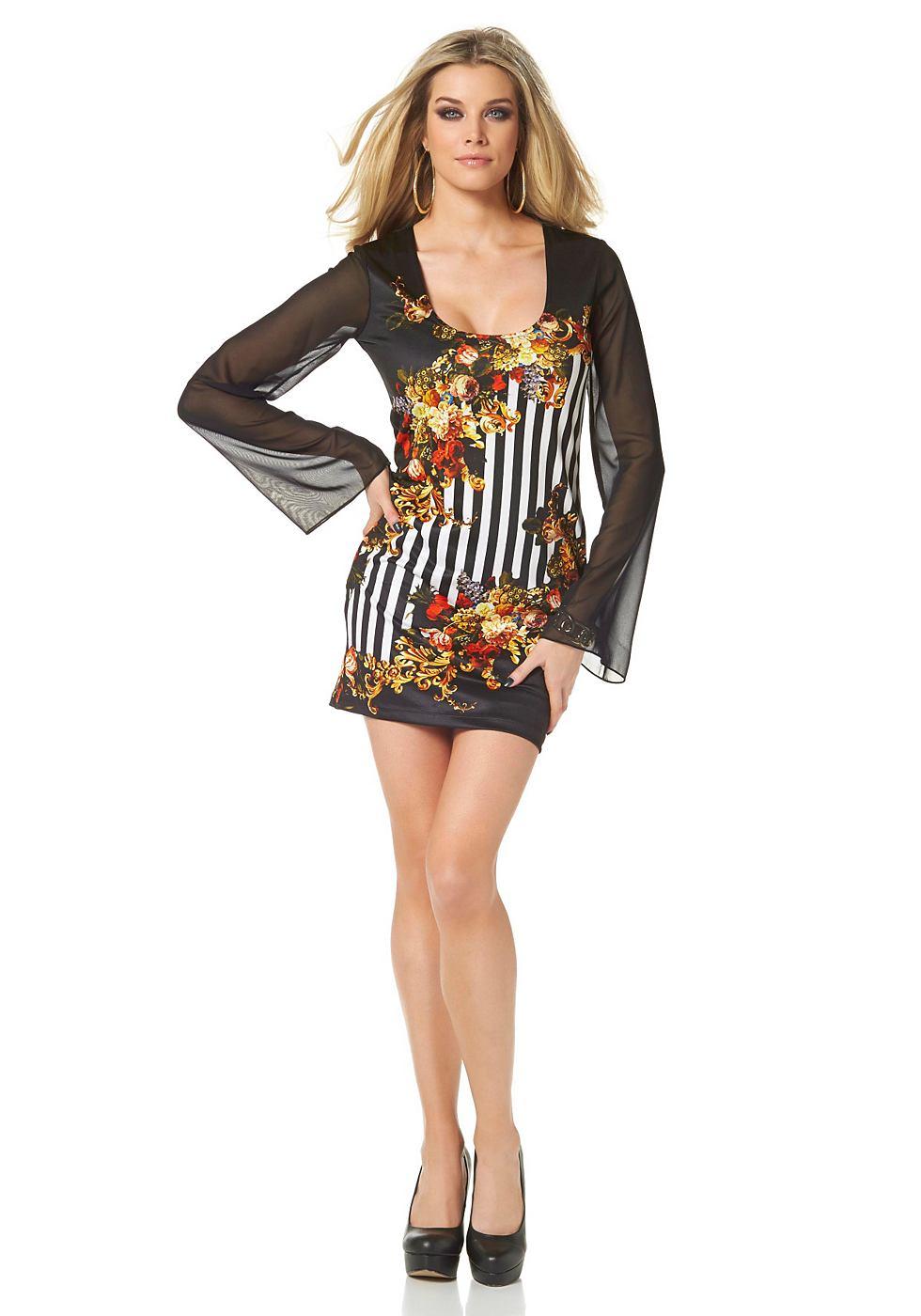 Melrose jersey-jurk in mini-lengte zwart