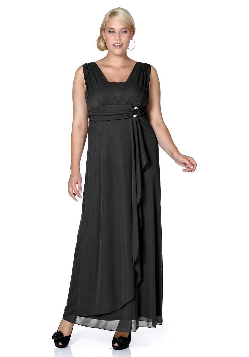 M.I.M jurk in gala-look zwart