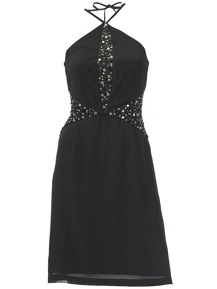 Ashley Brooke Event jurk in haltermodel zwart