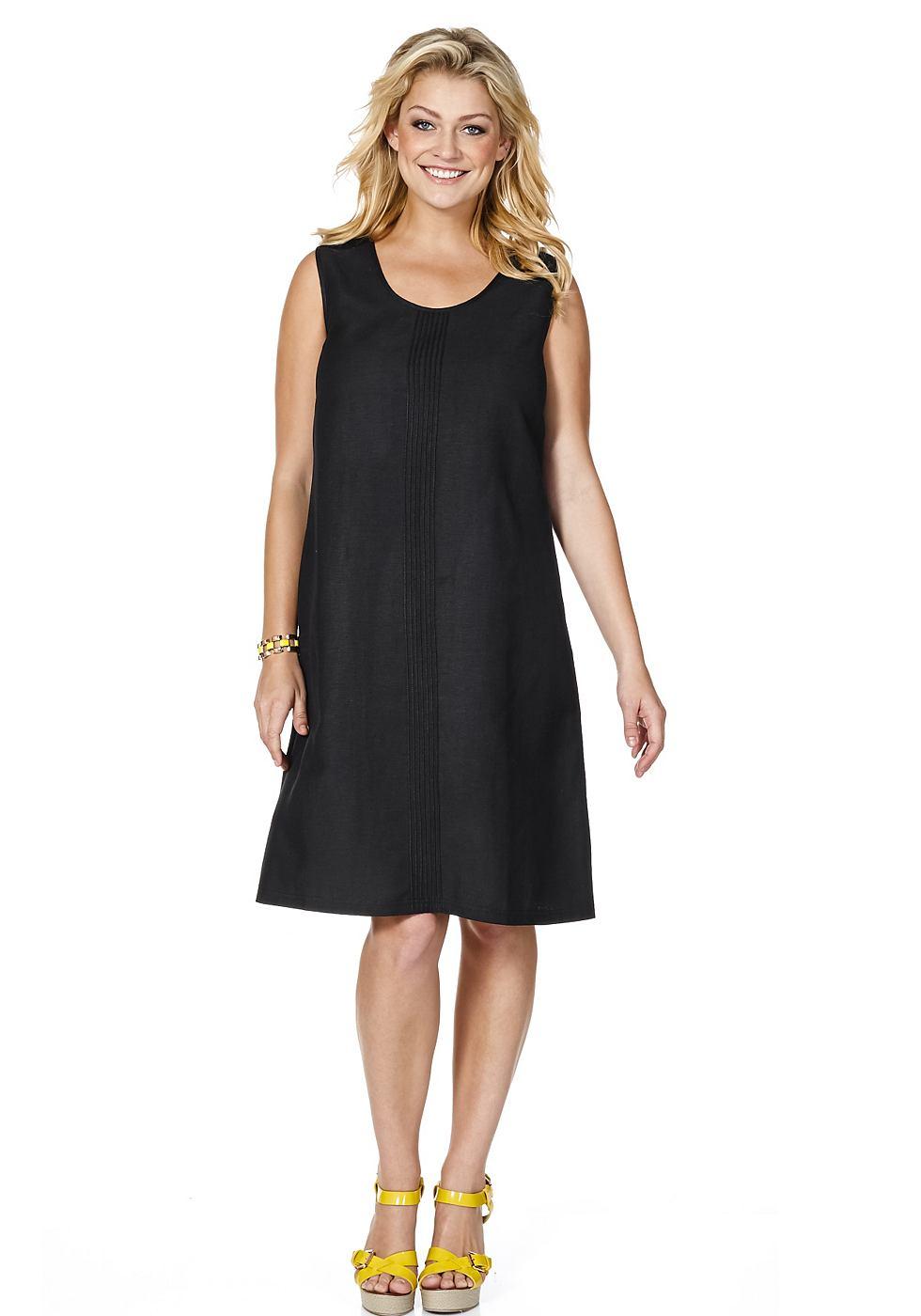 SHEEGO jurk met linnen zwart
