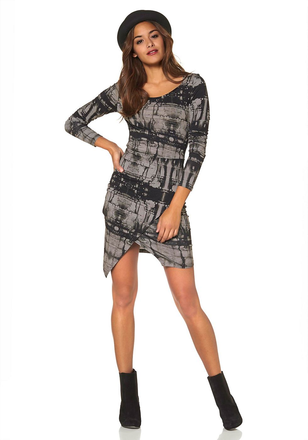 AJC jersey-jurk zwart
