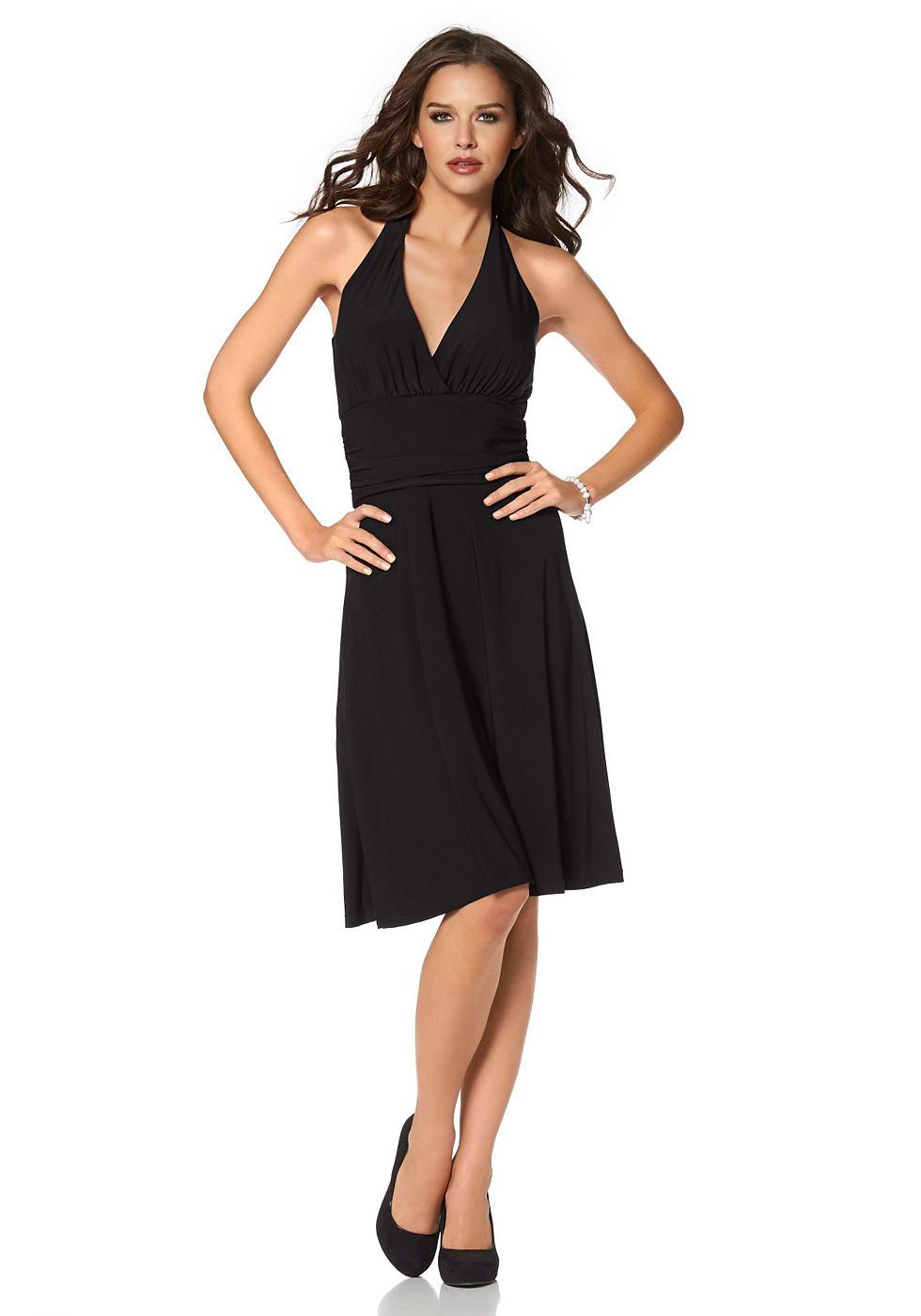 Laura Scott jurk in haltermodel zwart