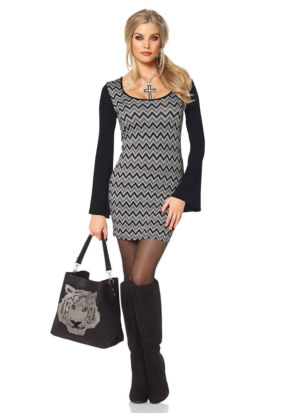 Melrose jersey-jurk in mini-lengte grijs