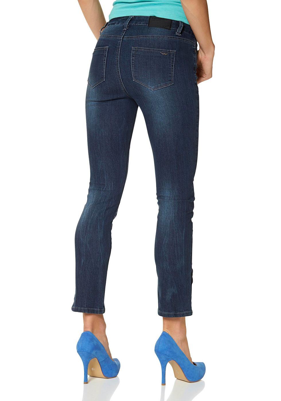 ARIZONA 7/8-jeans met knoopsluiting