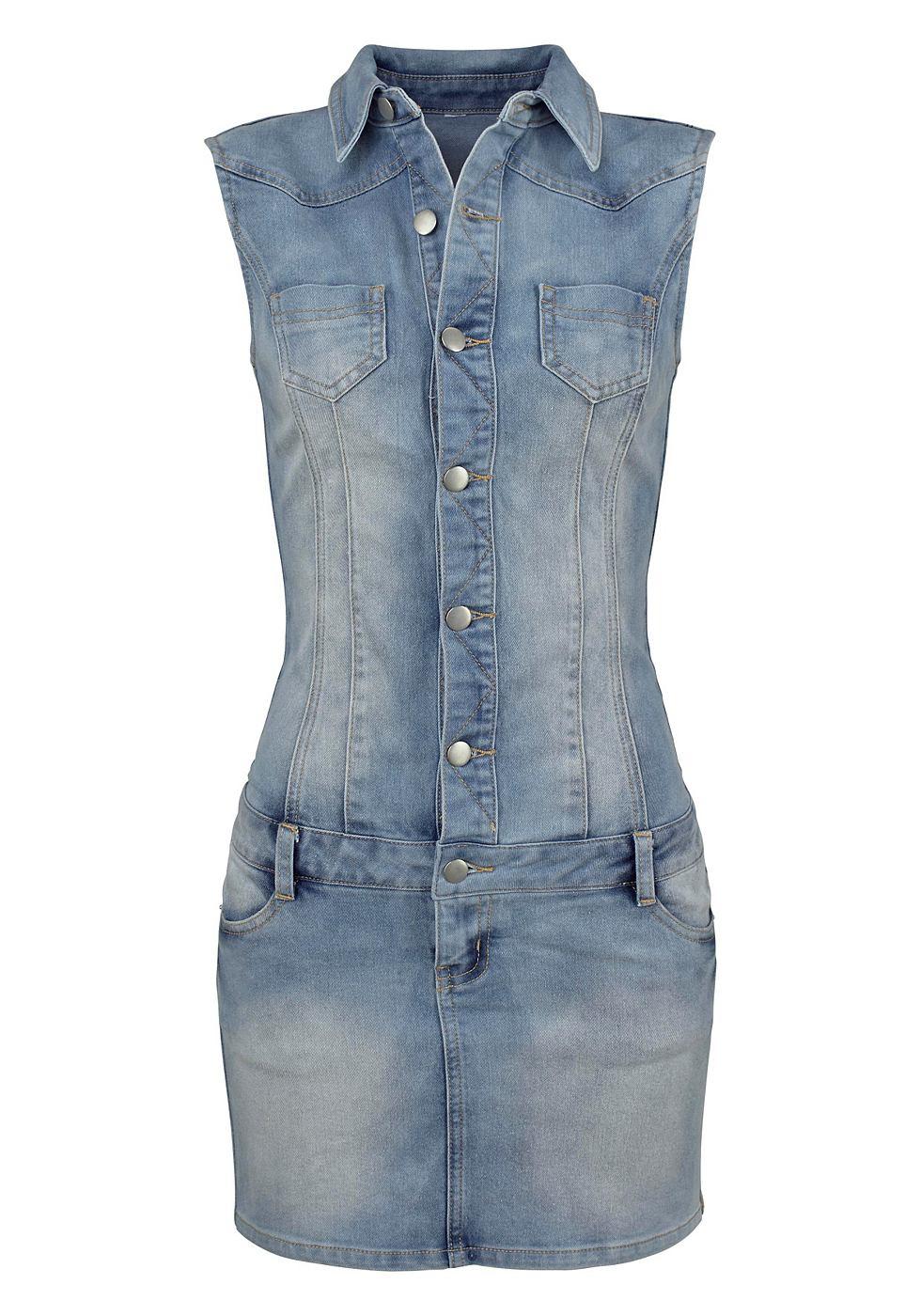 Melrose Jeans-jurk zonder mouwen blauw