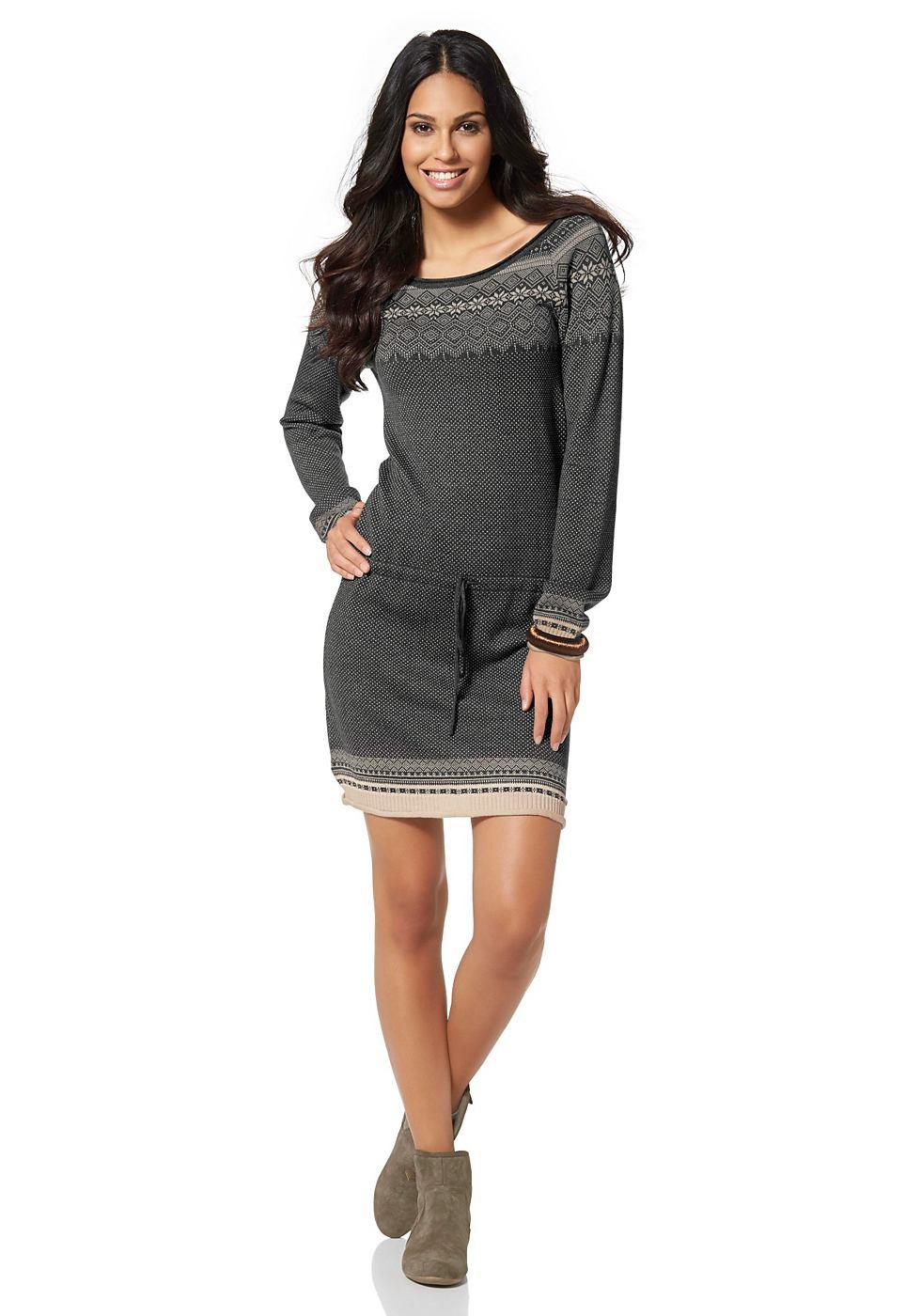 FLASHLIGHTS Tricot-jurk grijs