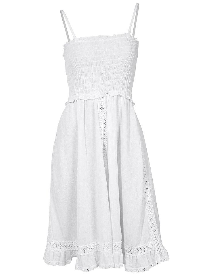 jurk in overgooiermodel wit