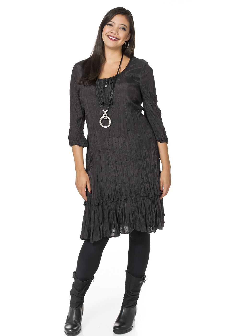 Sheego Style jurk grijs