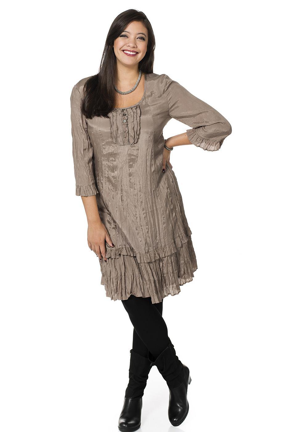 Sheego Style jurk bruin