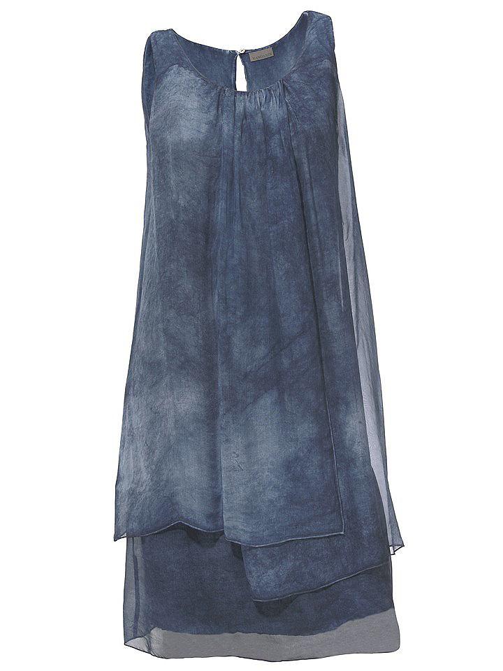 jurk in overgooiermodel blauw