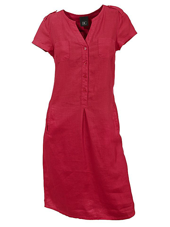 Linnen jurk rood