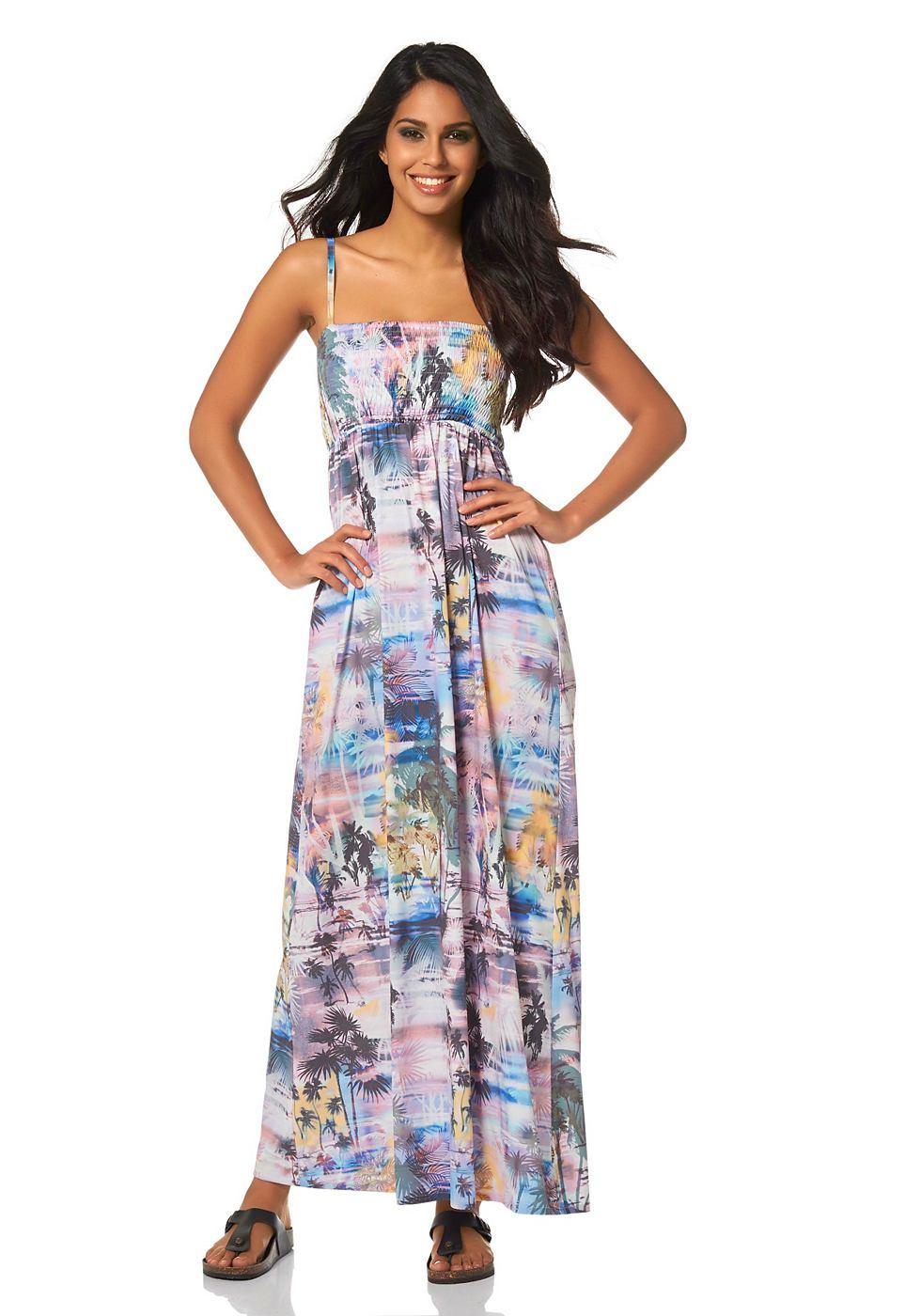 Laura Scott jurk in bandeaumodel multicolor