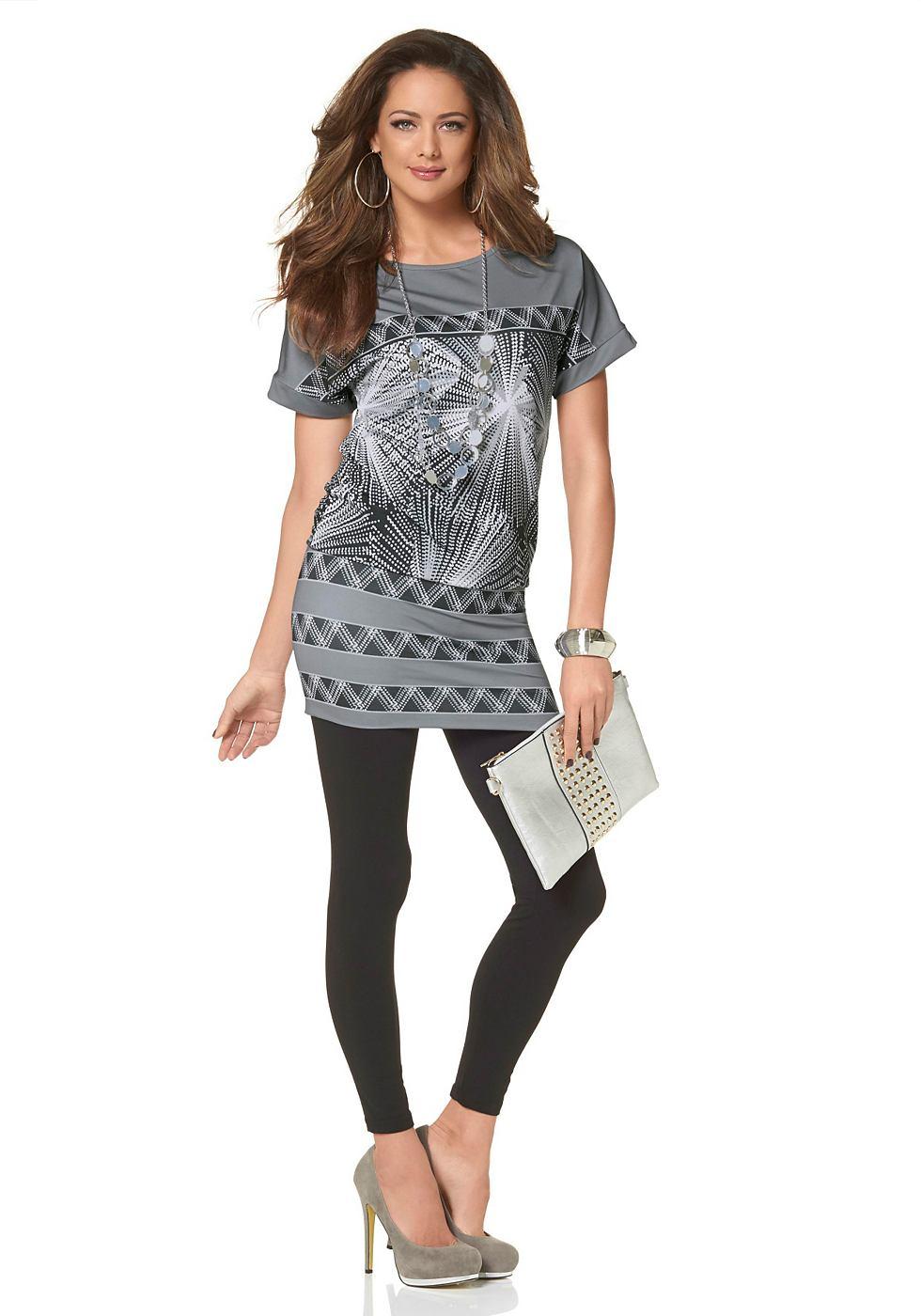 Melrose jurk van jersey grijs