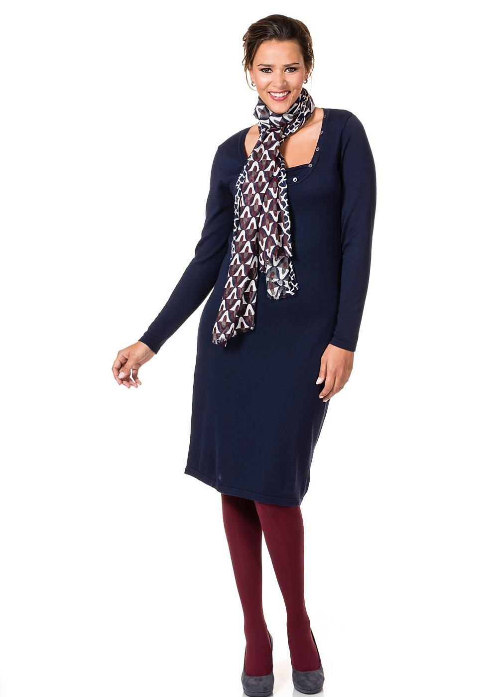 Sheego Style tricotjurk blauw