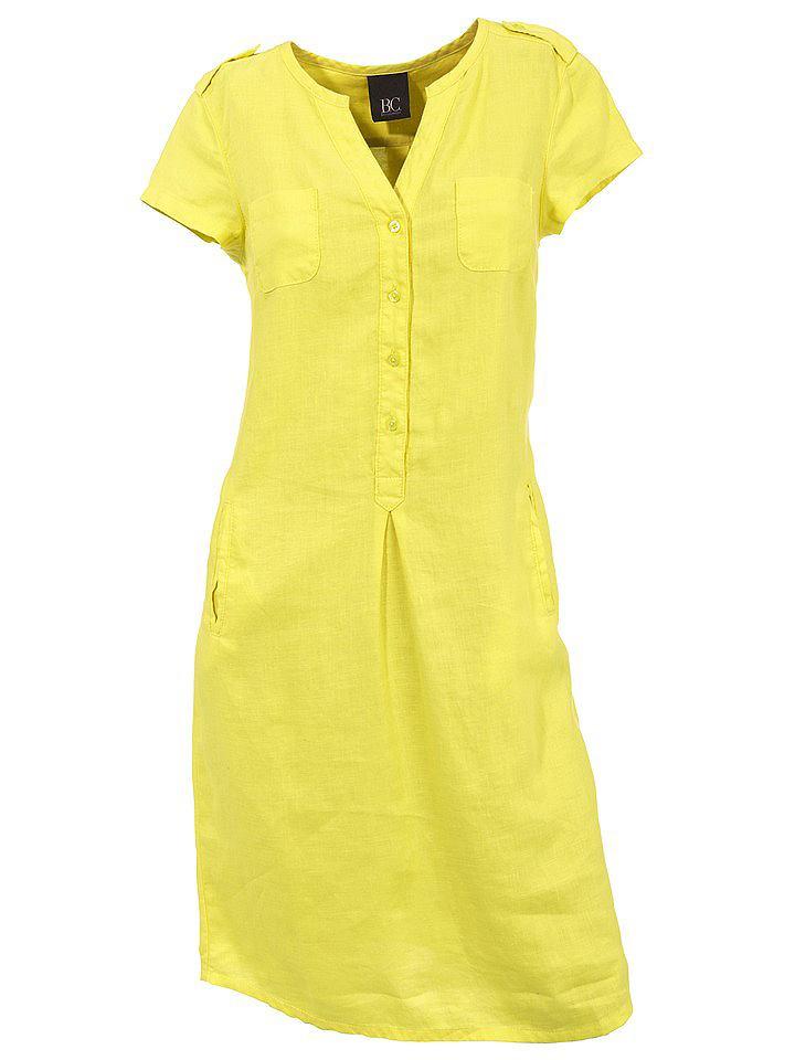 Linnen jurk geel