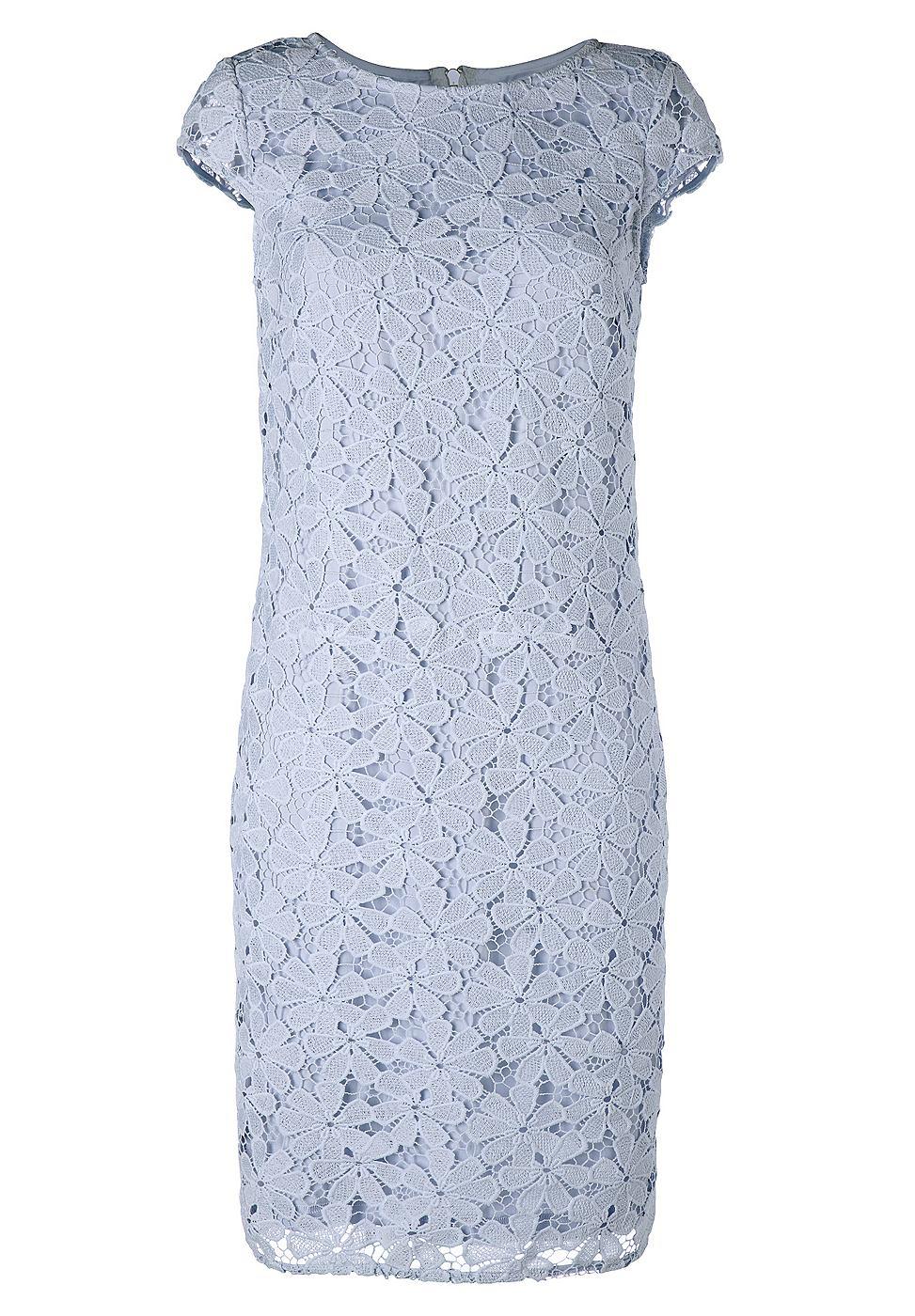 NU 15% KORTING: Apart kanten jurk blauw