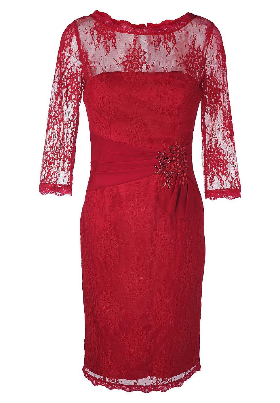Apart kanten jurk rood