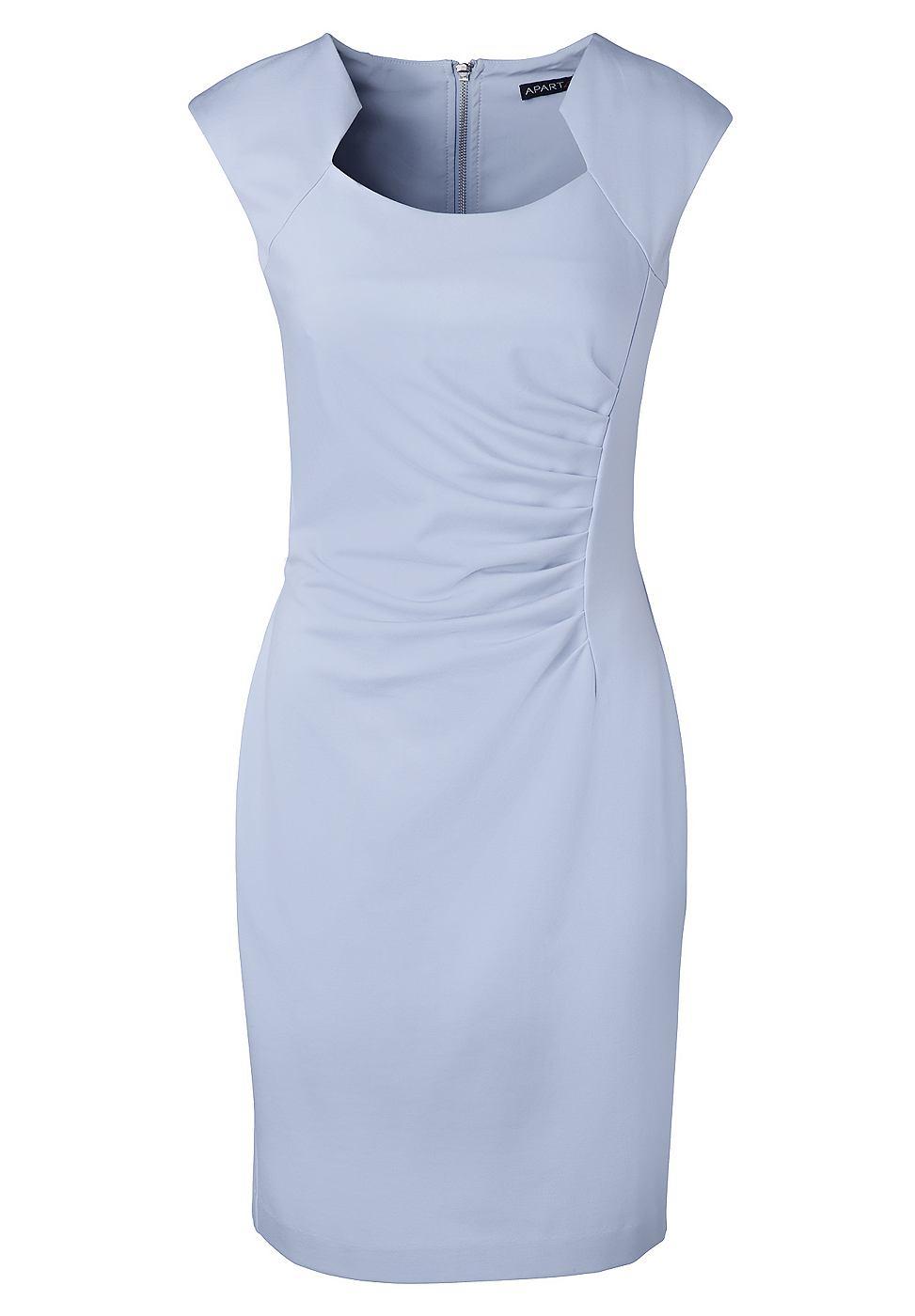 Apart Tricot jurk blauw