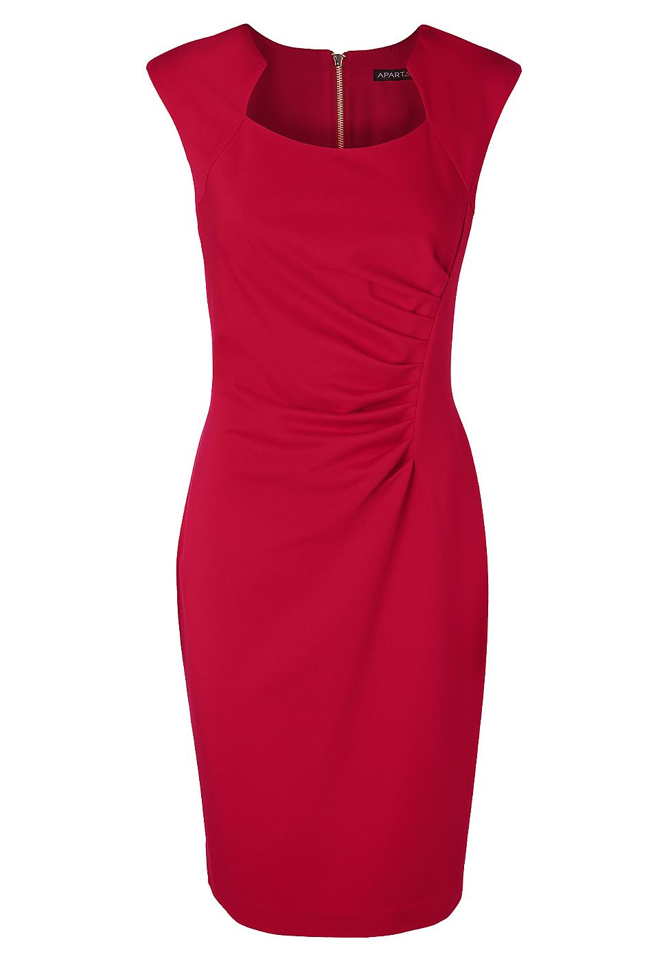Apart Tricot jurk rood